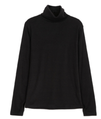 French warmer brushed turtleneck T-shirt