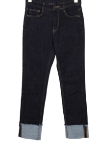 River brushed roll-up trousers