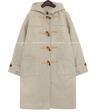 RIRICAL HOOD DUFFLE COAT
