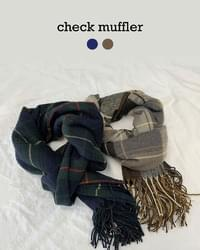 Mity check scarf shawl