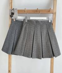 QUIETLABHerringbone Pleated Mini Skirt