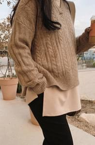 Cozy Cable Hood Knit