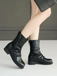 Lietine shirring ankle boots 3cm
