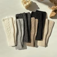 Wool Knit Knitting Arm Warmer 6color
