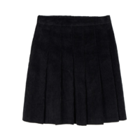 Golden pleated mini skirt