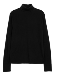 Up brushed skin turtleneck T-shirt