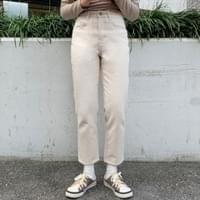 Spicy brushed straight pants