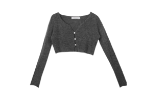 Wool reaming cropped cardigan