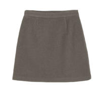 Lauren wool simple mini skirt