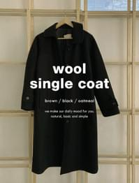 Awesome Hidden Button Nagrang Wool Coat