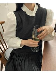 Lovesome Frill Puff Blouse