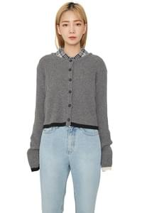 Met cashmere knit cardigan