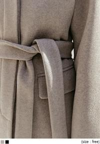 Concealed Button Belted Coat