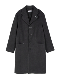 Unisex Wool Clay Long Coat