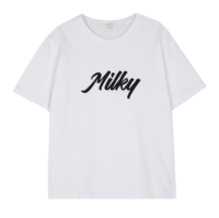 Milky boxy short sleeve T-shirt