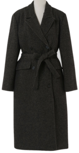 Again Belt Double Long Wool Coat 大衣外套