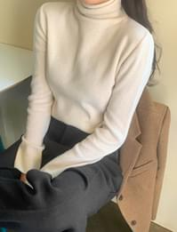 Warming Pine Wool Cashmere Turtleneck Knitwear