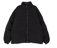 Unisex fuzzy padded coat