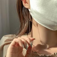 Bright Stone Mask Strap String Necklace
