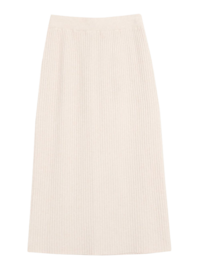 Viscose Corrugated Knit Long Skirt