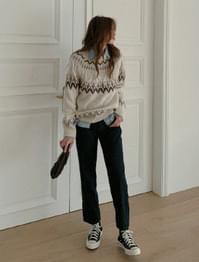 Walnut Nordic Jaded Knit