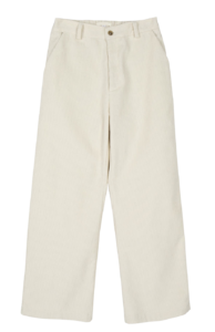 Earth corduroy banding trousers