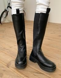 High Ring Band Long Boots
