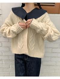 Grand Wool Cable Cardigan