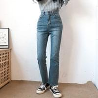 Flared cut denim pants