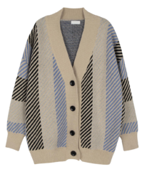 Quez V-neck pattern cardigan