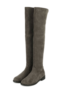 Bird suede long boots