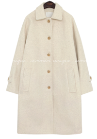 ELF WOOL RAGLAN SINGLE COAT