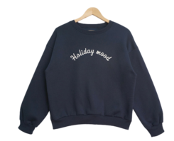 Day lettering brushed sweatshirt