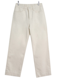 Spandex straight back banding Fleece-lined pants