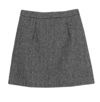 What's Wool Check Mini Skirt
