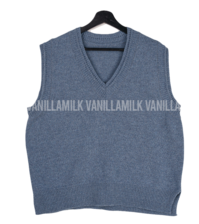 Shark V-neck wool vest