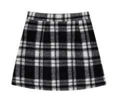 Heart Check Mini Skirt (Black)