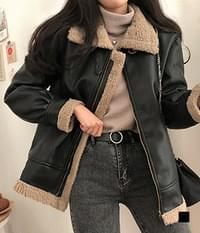 Thorp Leather Wool Shearling