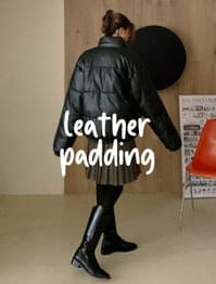 Bake Wellon Leather Padded Jumper