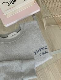 With Semi Crop Raised sweat shirt