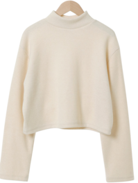 Crepe Warm Polar Cropped T-shirt