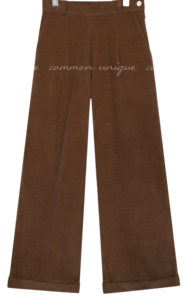 CORDUROY ROLL UP WIDE PANTS