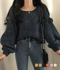 Honey Boat Neck Comfortable Loose Fit Knit