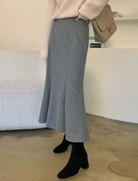 Olsen brushed banding mermaid skirt