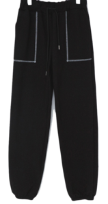 Cuckoo pocket stitch brushed jogger pants