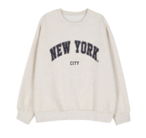 New York brushed crew neck sweatshirt