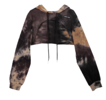 Tie-dye cropped hardy hooded sweatshirt