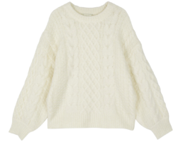 Purdy cable crew neck knit ニット