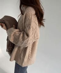 KOI Loose Fit Cable Knit *