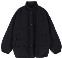 Wind half padded coat